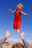 Flying boy royalty free stock image