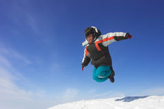 Flying boy Royalty Free Stock Image