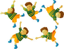 Flying Boy. Illustration vector cartoon Flying Boy stock illustration