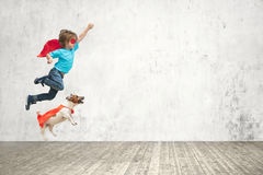 Flying boy Royalty Free Stock Photography
