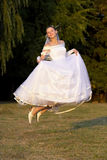Flying bride Royalty Free Stock Photos