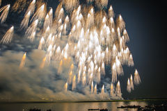 Flying Broom Fireworks Royalty Free Stock Image