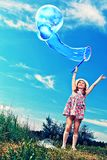 Flying bubble Royalty Free Stock Photography