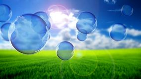 Flying bubbles Stock Images