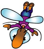 Flying Bug Royalty Free Stock Photos