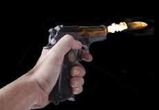 Flying Bullet on Fire Royalty Free Stock Photo