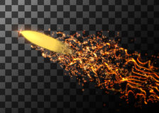 Flying bullet from light particles. Vector illustration. Flying bullet from light particles. Vector illustration Royalty Free Stock Photo