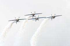 The flying bulls aerobatics team royalty free stock photography