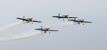 Flying Bulls Aerobatics Team on the Airshow Royalty Free Stock Photography