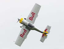 Flying Bulls Aerobatics Team on the Airshow. Plasy, Czech Republic - April 27, 2013: The Flying Bulls Aerobatics Team on the Airshow The Day on Air. The team fly Royalty Free Stock Photos