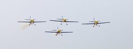 Flying Bulls Aerobatics Team on the Airshow Royalty Free Stock Image