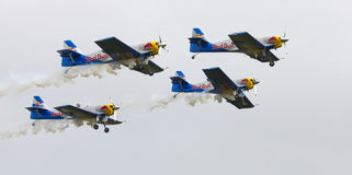Flying Bulls Aerobatics Team on the Airshow Stock Photos