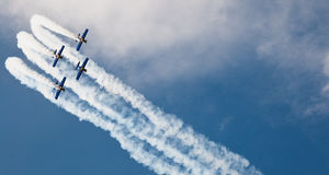 The Flying Bulls - Goraszka Airshow - Poland Royalty Free Stock Photos