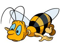 Flying Bumblebee Royalty Free Stock Images