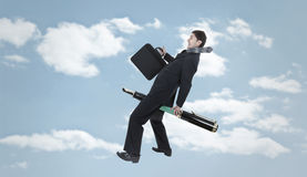 Flying Businessman Royalty Free Stock Photos