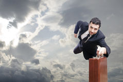 Flying businessman Royalty Free Stock Images