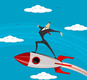 Flying Businessman success . Royalty Free Stock Images