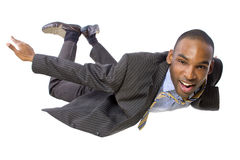 Flying Businessman Stock Photography