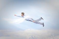 Flying businessman Royalty Free Stock Photo