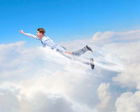 Flying businessman Royalty Free Stock Photos