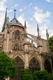 The Flying Butresses of Notre Dame Royalty Free Stock Photos