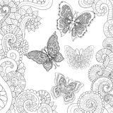Flying butterflies stock illustration