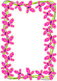 Flying Butterflies Border Frame. Frame border with flying butterflies. Colors can be changed upon request Royalty Free Stock Photo