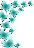 Flying Butterflies Border. Border with a group of flying blue butterflies. Colors can be changed upon request Stock Photography