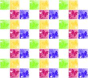 Colorful Heart Butterflies Seamless Wallpaper. Flying butterflies silhouettes with white outlining them, swirls and hearts Stock Image