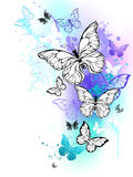 Flying butterflies watercolor Royalty Free Stock Images