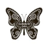 Flying butterfly, summer day Stock Images