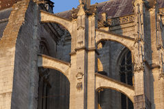 Flying buttress in the cathedral of Beaubais Stock Photo