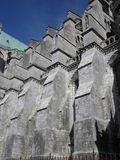 Flying buttress of Chartres cathedral Stock Photo