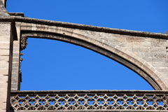 Flying Buttress of Seville Cathedral Royalty Free Stock Photography