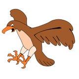 Flying buzzard. Cartoon illustration of a flying buzzard Royalty Free Stock Photos