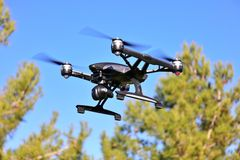 Flying Camera Drone (LARGE FILE) stock photo