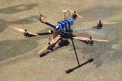 Flying Camera Drone At Rest Royalty Free Stock Images