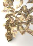 Flying Canadian Dollar Royalty Free Stock Image
