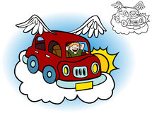 Flying Car Stock Photography