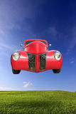 Flying Car Royalty Free Stock Photography