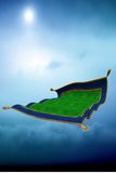Flying carpet Royalty Free Stock Photo