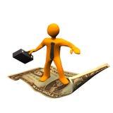 Flying Carpet Dollar Royalty Free Stock Images