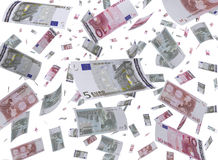 Flying Cash Royalty Free Stock Images