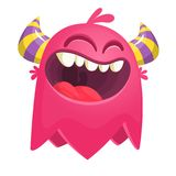 Flying catoon monster. Pink character for Halloween. Flying catoon monster. Pink character for Halloween vector illustration