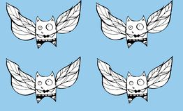 Flying cats Royalty Free Stock Images