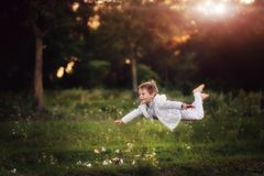 The flying child Royalty Free Stock Photo