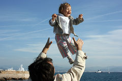 Flying child Stock Image