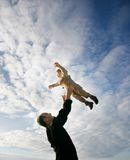 Flying child Royalty Free Stock Photos