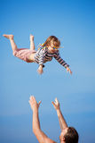 Flying child Stock Photography
