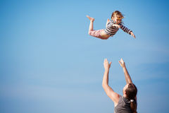 Flying child Royalty Free Stock Images